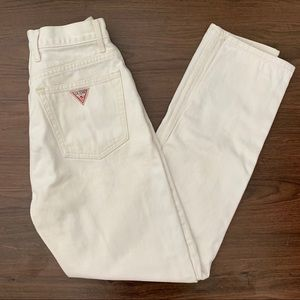✨ Vintage Guess Off White High Waisted Jeans